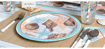 Eco-Friendly By the Sea Seashell Party Supplies