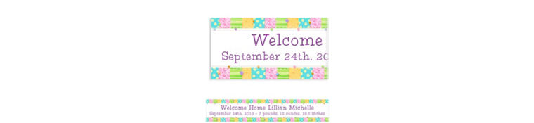 Custom Cute As A Button Baby Shower Banner 6ft