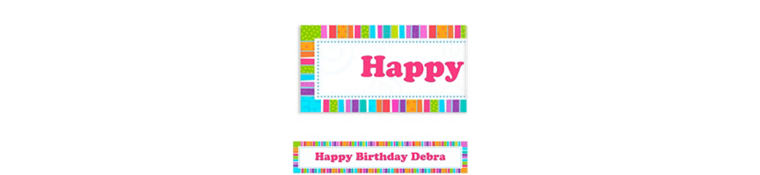 Custom Radiant Birthday Birthday Banner 6ft