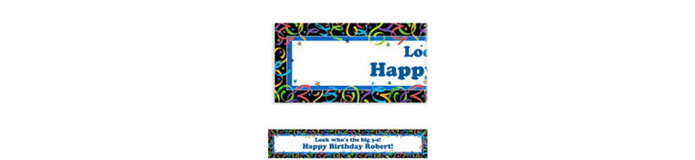 Let's Celebrate Custom Birthday Banner