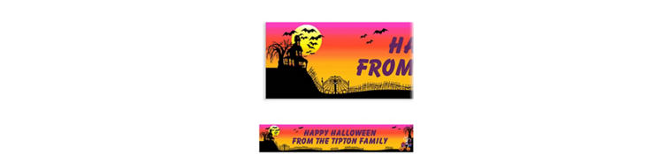 Custom Haunted Hill Halloween Banner 6ft