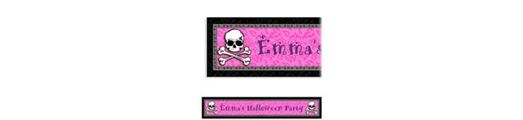 Pretty in Pink Custom Birthday Banner 6ft