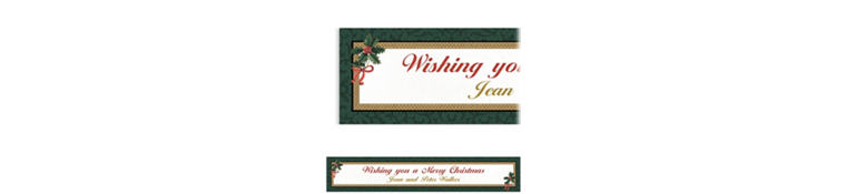 Custom Classic Holly Christmas Banner 6ft