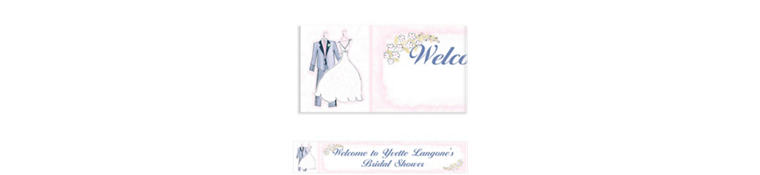 Sweet Romance Custom Bridal Shower Banner