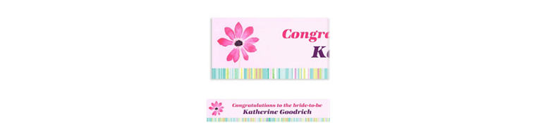 Custom Watercolor Blooms Banner 6ft