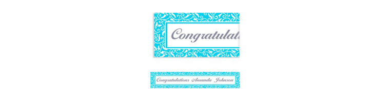 Caribbean Blue Ornamental Scroll Custom Banner