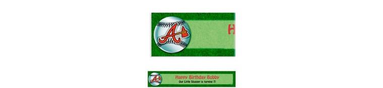 Custom Atlanta Braves Banner 6ft
