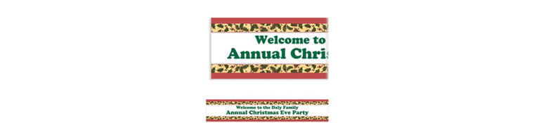 Custom Winter Holly Banner 6ft