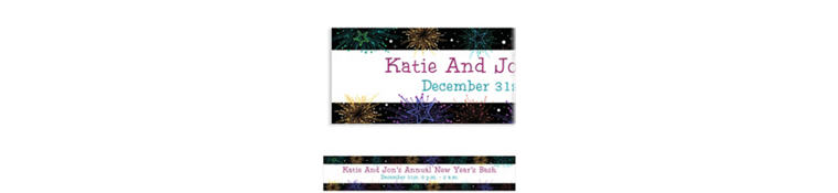 Custom Midnight Marquee New Year's Banner 6ft