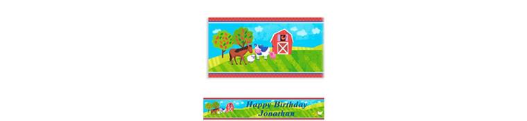 Barnyard Custom Birthday Banner 6ft