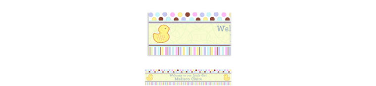 Custom Tiny Bundle Baby Shower Banner 6ft