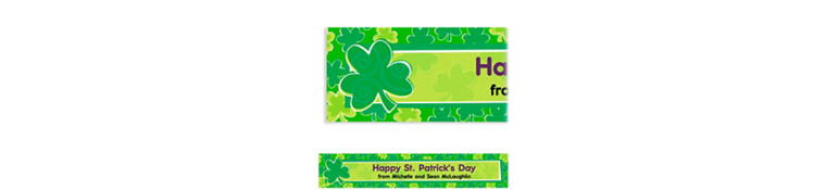Playful Shamrocks Custom St. Patricks Day Banner