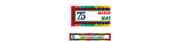 Custom A Year to Celebrate 75th Banner 6ft