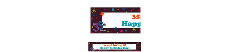 The Party Continues 35 Custom Banner 6ft