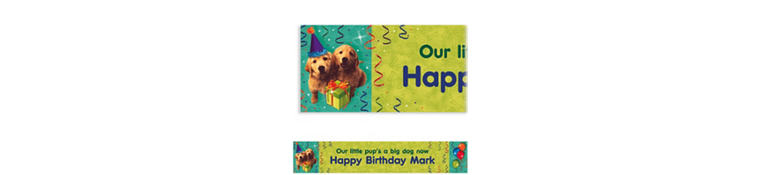 Dogs Custom Banner 6ft