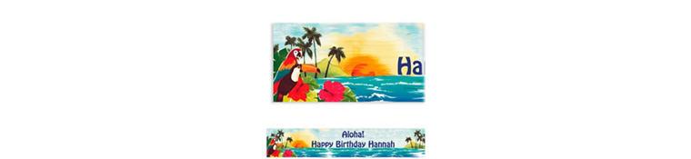 Custom Hawaiian Luau Banner 6ft