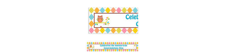 Custom Whoo Loves You Baby Shower Banner 6ft