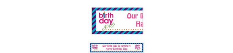 Custom Birthday Girl Text Banner 6ft