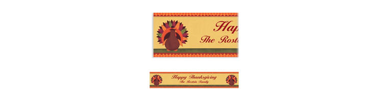 Custom Turkey Dinner Banner 6ft