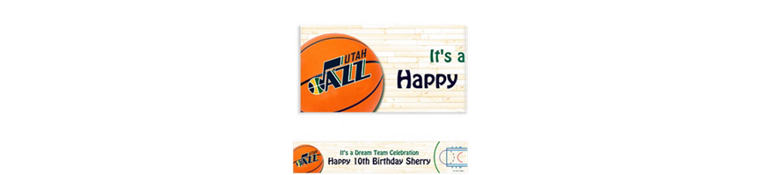 Utah Jazz Custom Banner 6ft