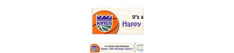 Custom Sacramento Kings Banner 6ft