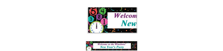 Custom Wild New Year Banner 6ft