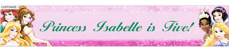 Disney Princess Sparkle Custom Banner