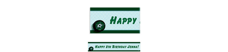 Dallas Stars Custom Banner