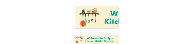 Kitchen Shower Custom Bridal Shower Banner