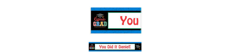 Custom Made The Grade Graduation Banner 6ft