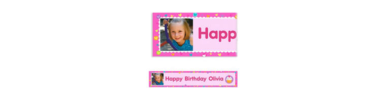 Cupcake Party Custom Photo Banner