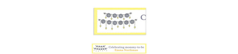 Custom Baby Clothesline Neutral Baby Shower Banner 6ft