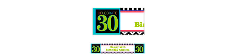 30th Celebration Custom Banner