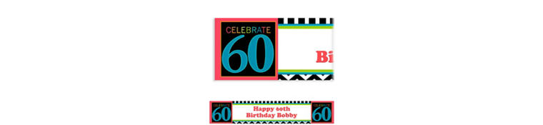 Custom 60th Celebration Banner 6ft