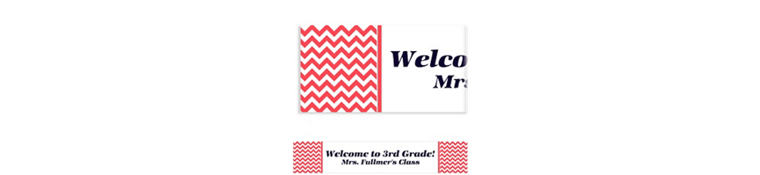 Custom Red Chevron Banner 6ft