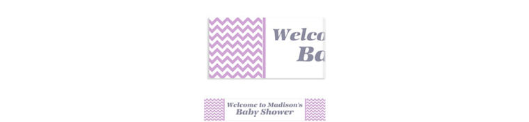 Custom Lavender Chevron Banner 6ft