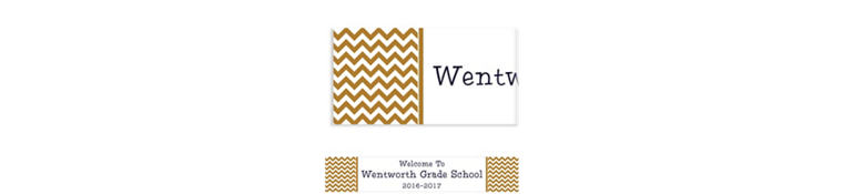 Custom Gold Chevron Banner 6ft