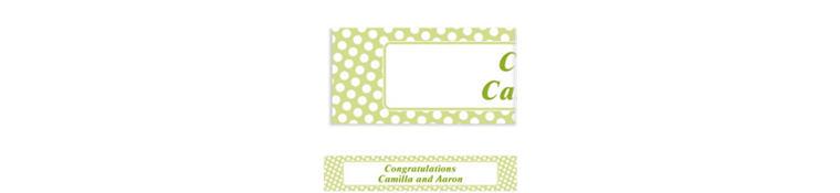 Custom Leaf Green Polka Dot Banner 6ft