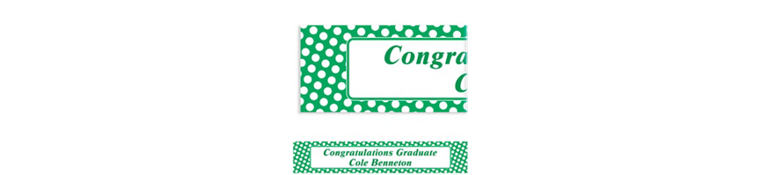 Custom Festive Green Polka Dot Banner 6ft