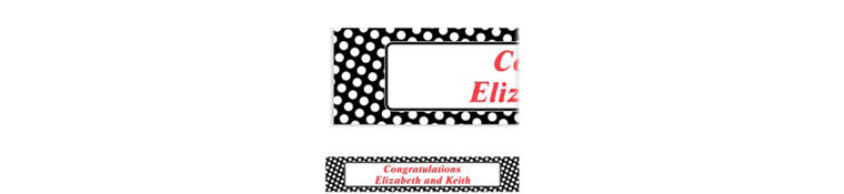 Custom Black Polka Dot Banner 6ft