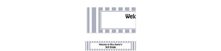 Custom Silver Stripe Banner 6ft