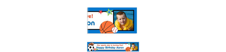 Play Ball Party Custom Photo Banner