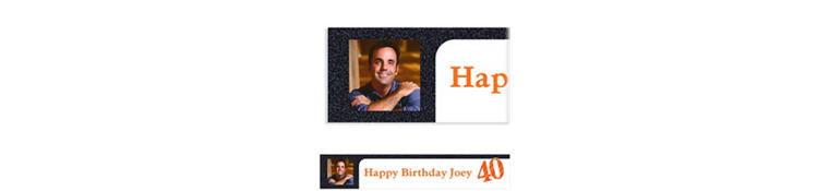 Custom Big Celebration 40 Photo Banner 6ft