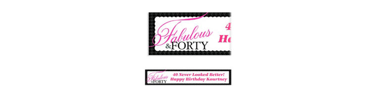 Custom Fabulous & Forty Banner 6ft
