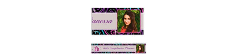 Custom Mis Quince Anos Photo Banner 6ft