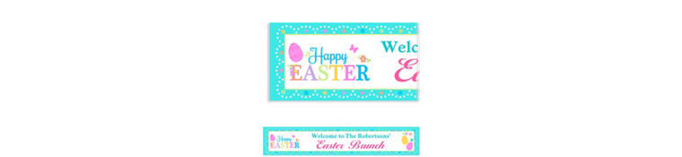 Custom Egg-citing Easter Banner