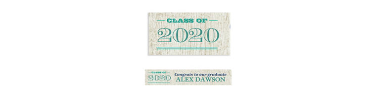 Custom Wood Graduation Banner