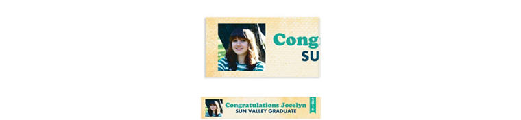 Custom Retro Graduation Photo Banner