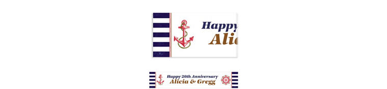 Custom Striped Nautical Banner