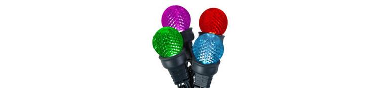 Lightshow Multicolor Globe LED String Lights
